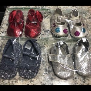 Lot of 4 infant size 2 shoes
